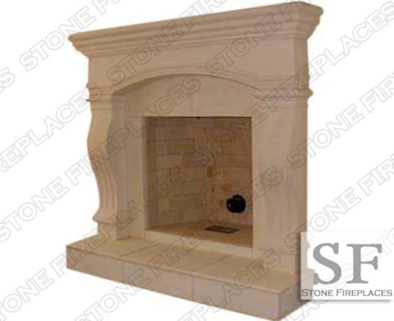 Fireplace Mantel, Cast Stone Surround