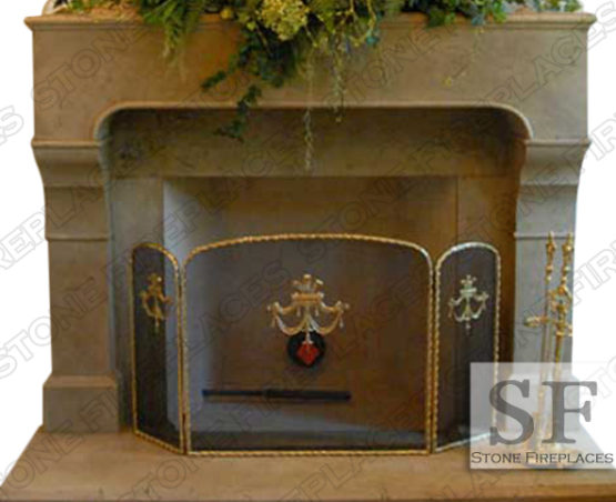 French Cast Stone Fireplace Mantel