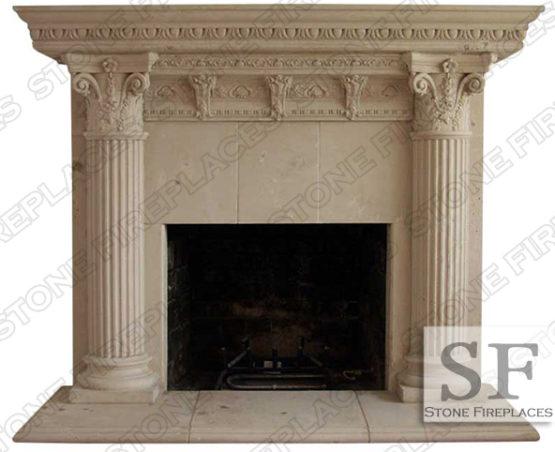 Cast Stone Fireplace Mantel Rhodes