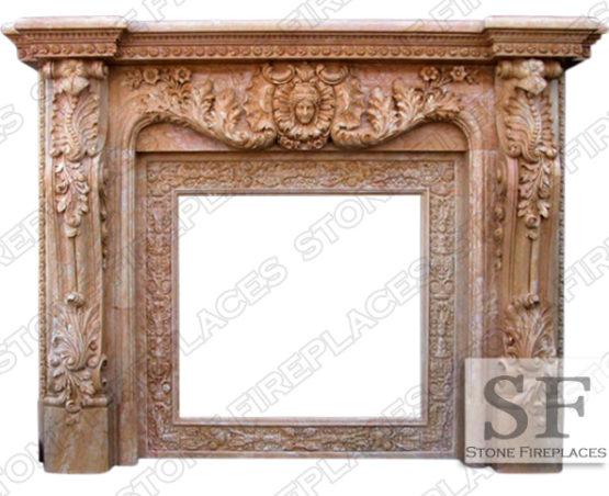 Large Marble Fireplace Baroque Verona
