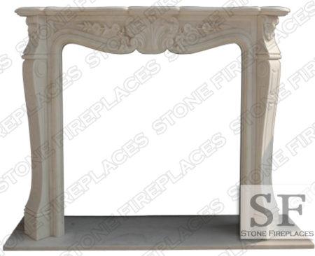 Carolina White Marble Fireplace Mantel
