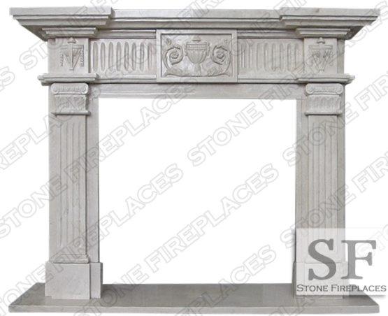 Italian Antique Marble Fireplace Mantel