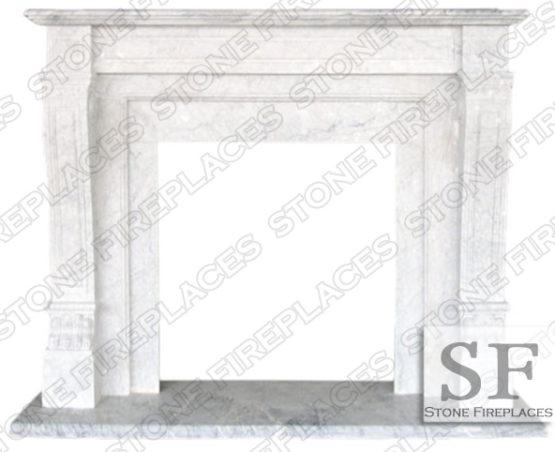 Italian Regal Marble Fireplace Mantel
