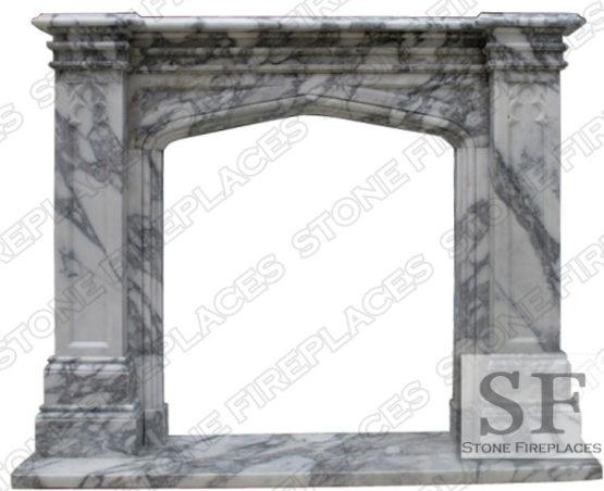 Marble Gothic Tudor Mantel Fireplace