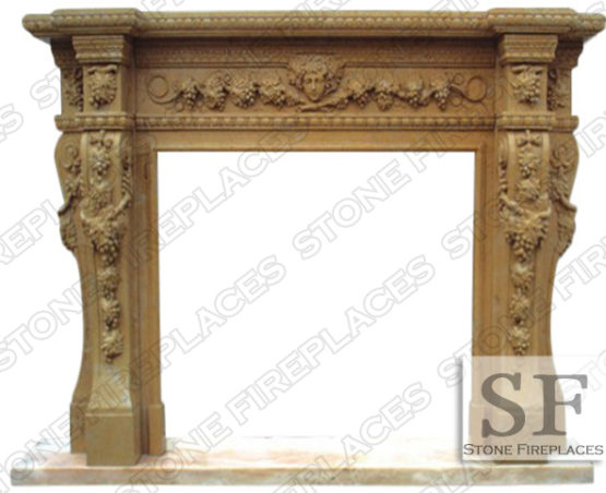 Napa Valley Marble Fireplace Mantel