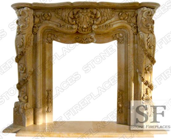 Pasadena Ornate Marble Fireplace