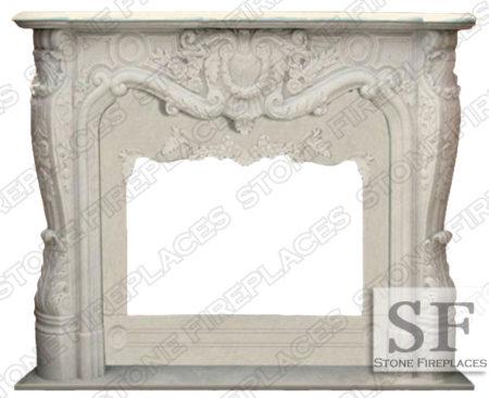 Regal Versailles Marble Fireplace Mantel