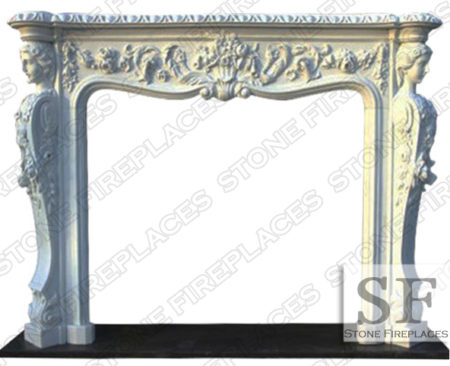 Victorian White Marble Fireplace Surround